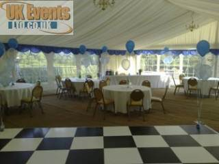 Marquee black and white dance floor Hire