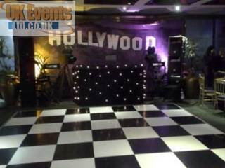 disco and dance floor Hire in aa marquee