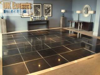 Jet Black dancing floor hire