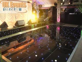 Starlit black or white led star effect dance floors