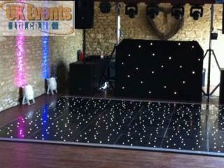 black pealight sprung portable dancefloors