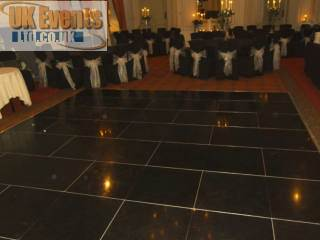 Pure Black Dance Floor Hire Nationwide