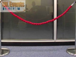 red ropes and posts(Stanchion)