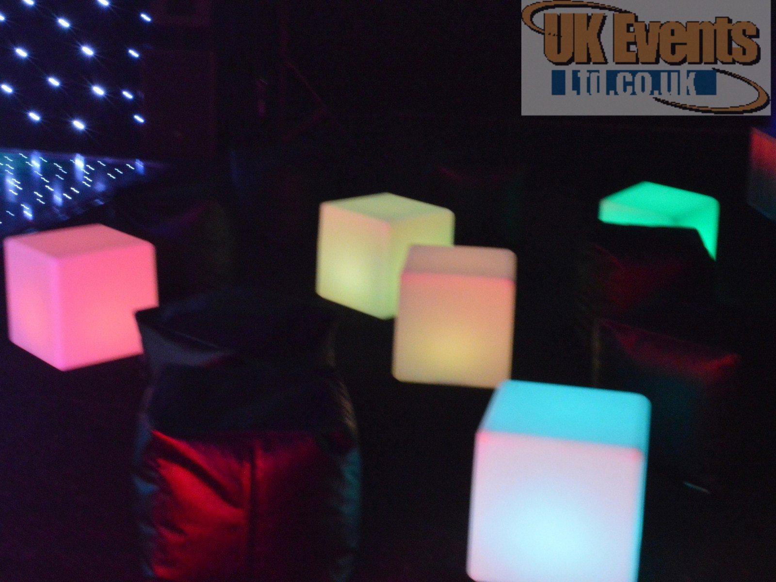 Bracknell white LED plight dance floor hire
