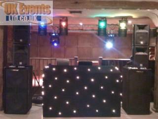 Black starcloth booth