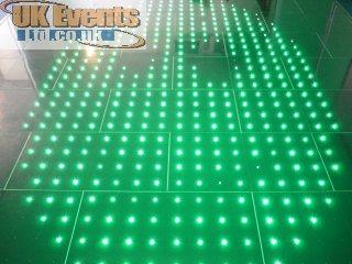 white light and flashing dance floor