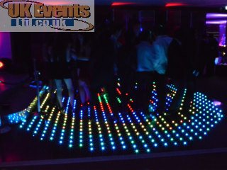 blue wash white LED floor to dance
