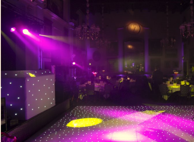 disco lighting and uplighters