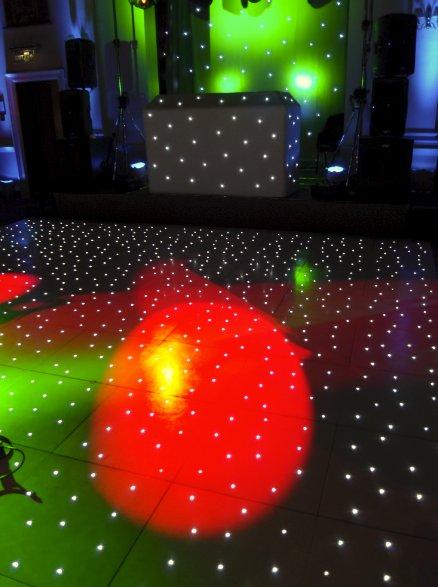 dance floor and lighting