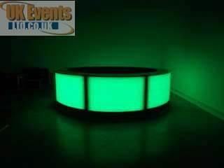 green led round bar