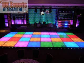 LED Retro 70's style dance floor