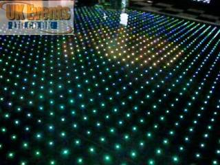 logo dance floor projection