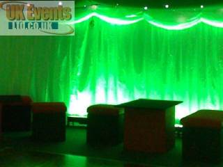 green uplighters for hire