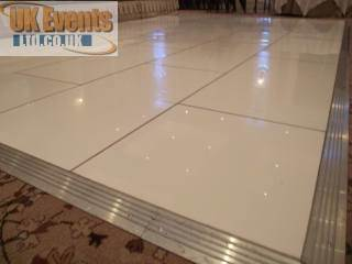 cardiff Pure White Dance Floor Hire
