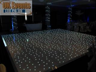 White LED Pea Light Starlit London Dance Floor London