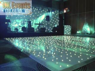 The pure white pea light starlit LED dance floor for Hire