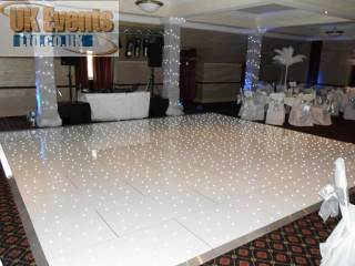 white plight sprung portable dancefloors
