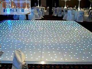 white starlit dance floor in a marquee