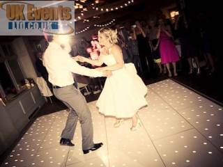 White LED dance floor for Nadia's wedding reception